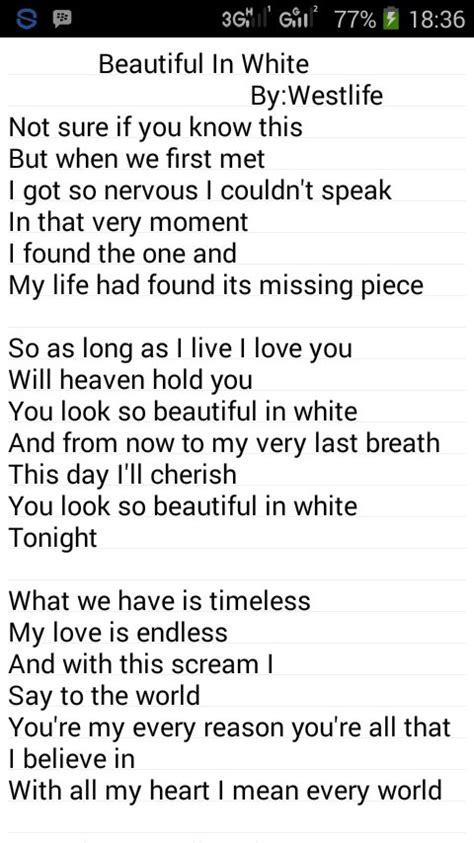 Beautiful In White Lyrics Westlife - Photos Idea