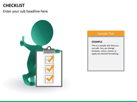 powerpoint checklist template checklist powerpoint template sketchbubble