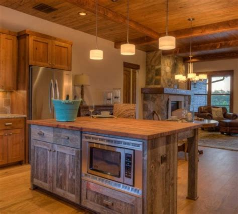 wooden kitchen ideas 15 reclaimed wood kitchen island ideas rilane