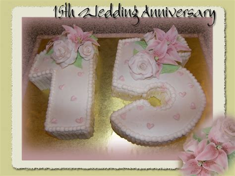 15th wedding anniversary cakes 15th wedding anniverary cake