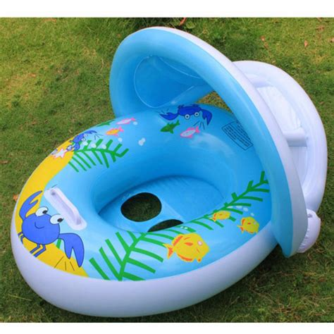 baby pool seat with shade 1pcs 12 36 months safety swim pool seat adjustable sun