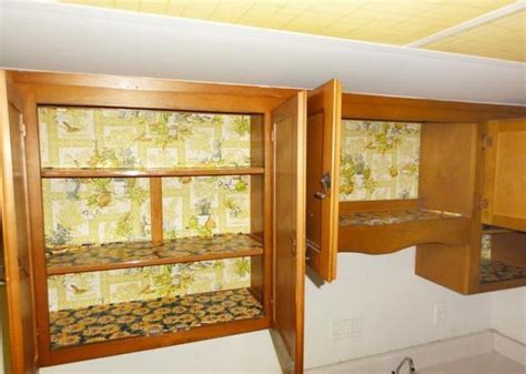 Kitchen Cabinet Shelf Paper Putting Wallpaper On Cabinets Wallpapersafari