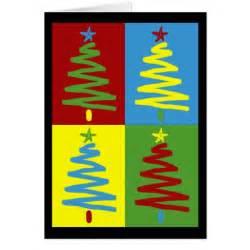 pop art christmas trees card zazzle