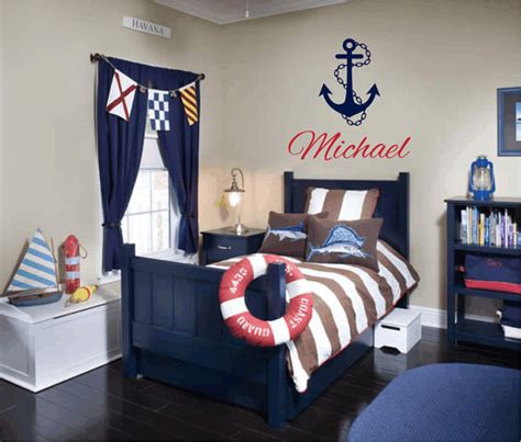 anchor room decor items similar to nautical vinyl wall decal personalized name wall decals sailboat anchor wall