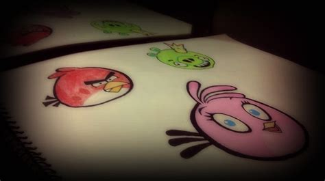 angry birds painting angry birds paintings collection my sketchbook