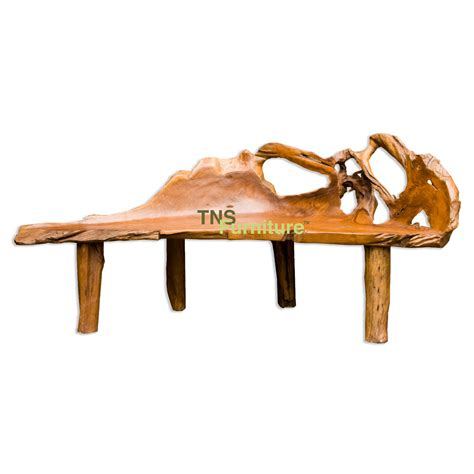 teak root bench tns furniture teak root large bench