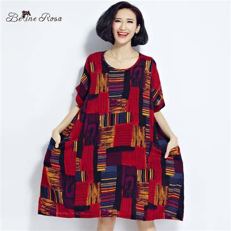 Plaid Dress Size 8t belinerosa 2017 plus size dresses summer cotton and linen plaid dress clothes for
