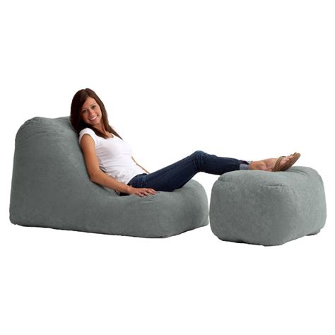 bean bag chair and ottoman have to have it original fuf chair wedge and ottoman