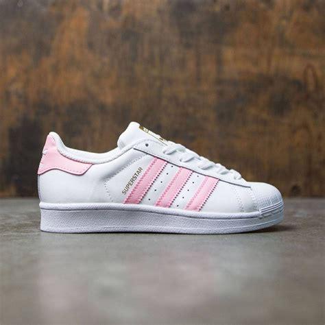 adidas big superstar foundation white clear light pink gold metallic