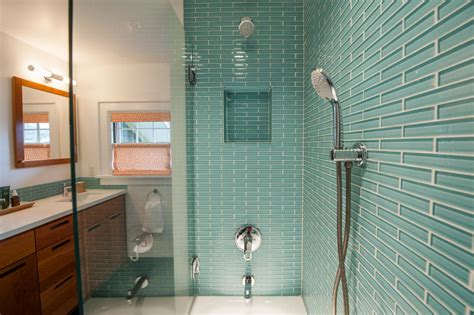Bathroom Tub Shower Ideas by Blue Sea Glass Tile Thumb Aqua X Large Glass Subway Tile