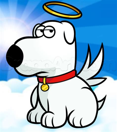 what of is brian on family how to draw brian griffin from family step by step draw