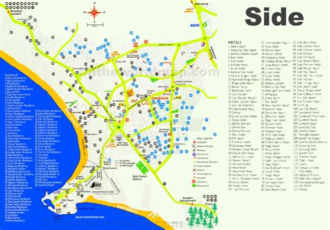 beach house hotel side map of hotels in side turkey middle east map