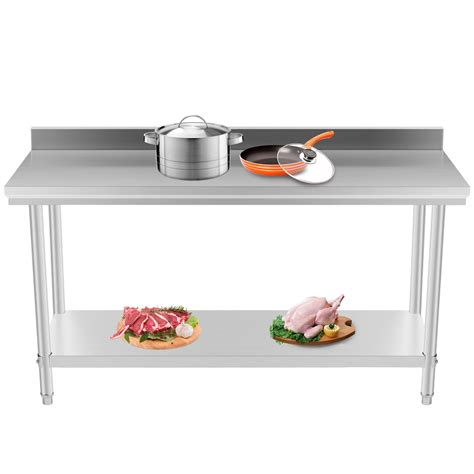 commercial kitchen prep table commercial kitchen stainless steel work prep table 24 x 60