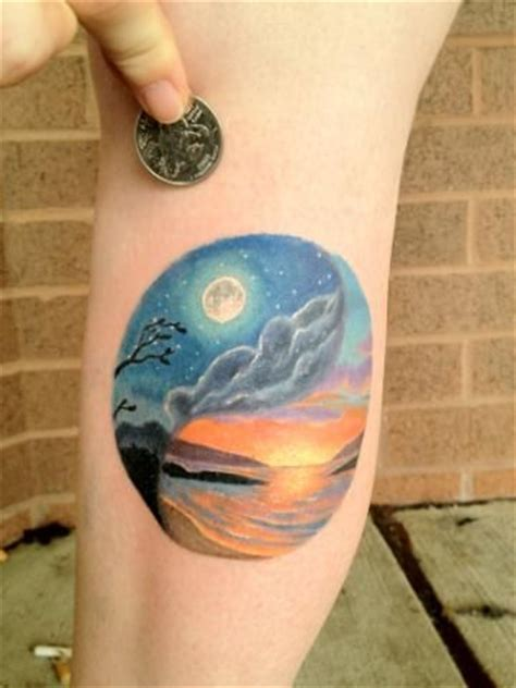 night and day tattoo and day yin yang tattoos