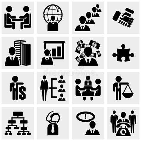 Office And Business Vector Icons Set On Gray Royalty Free Stock Images Image 33973149 Human Resources And Management Business Persons A Stock Vector Illustration Of Student Desk