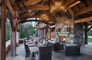Dining Room Sets Miami Rustic Elegance In The Yellowstone Club In Big Sky