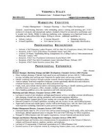 marketing resume exle