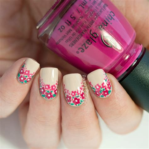 easy floral designs easy floral nail tutorial