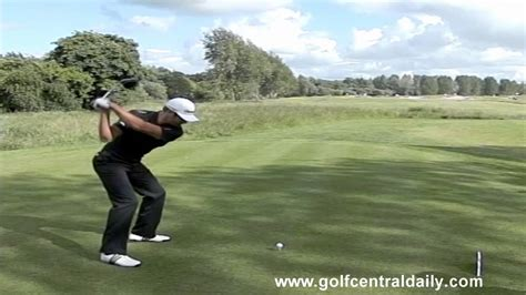 dustin johnson golf swing slow motion dustin johnson 384 yard drive captured in biz hub swing