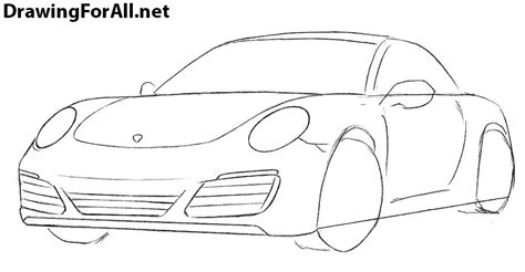 how to draw a jaguar car drawingforall net how to draw a porsche 911 drawingforall net