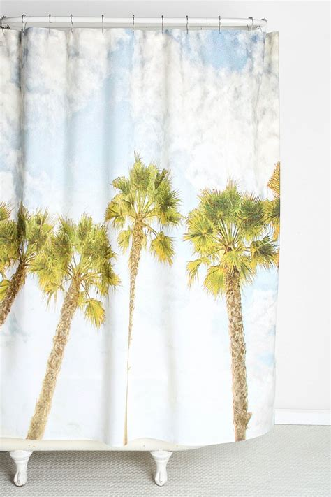 palm tree curtains drapes shannon clark for deny palm tree shower curtain urban
