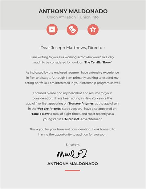 creative cover letter template venngage