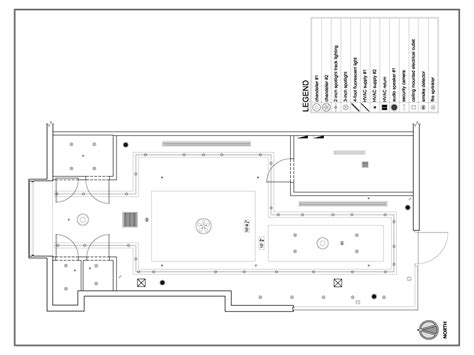 Ceiling Plan Dwg by Retail Shopping Site 2 Reflected Ceiling Plan
