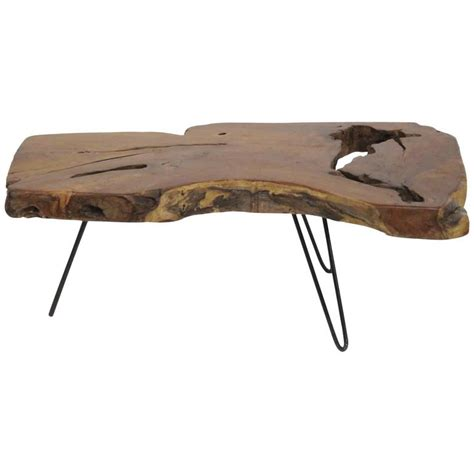 wood slab coffee table for sale at 1stdibs