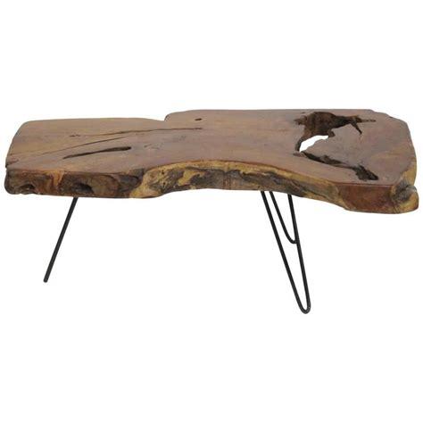 Wood slab coffee table for sale at 1stdibs