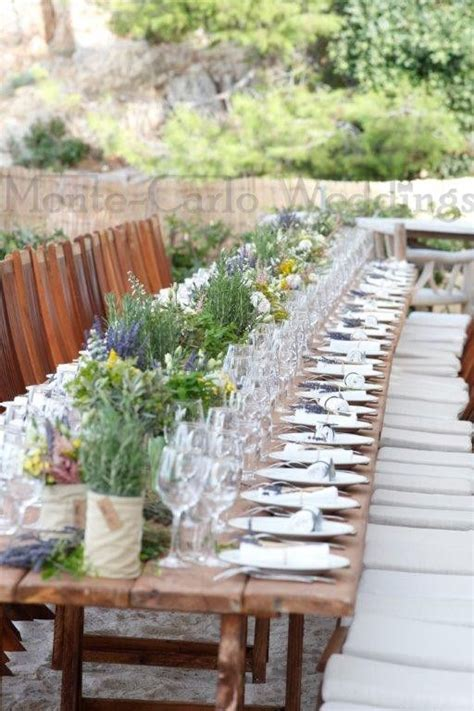 Provencal theme, lavender, olive trees  Wedding by Monte