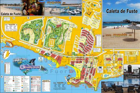 printable road map fuerteventura fuerteventura street map from caleta de fuste