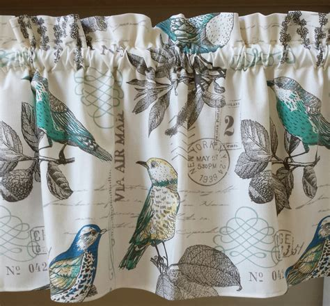 curtains with birds on them 1 bird old postcard window valances curtains cotton duck off