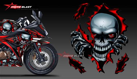 Decal Cbr 150 Lokal Black Shark Fullbody Cutting Pola motoblast