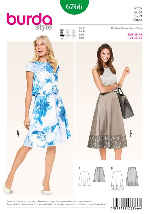 skirt pattern burda burda 6766 burda style skirts