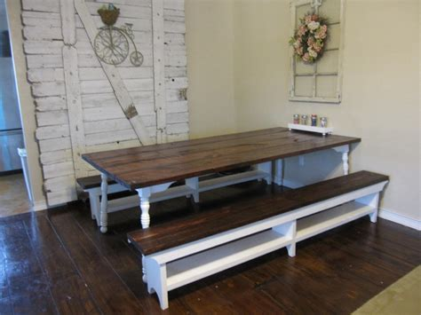 dining room table with benches farm style dining room table benches with storage bench