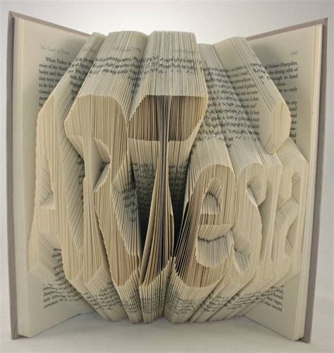 Origami 3d Book - 3d typography made by folding pages in books boing boing