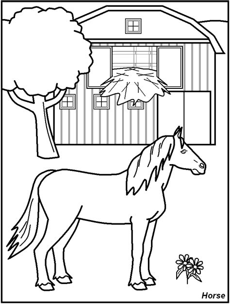 Barn Animals Coloring Pages Az Coloring Pages Barn Coloring Pages Free