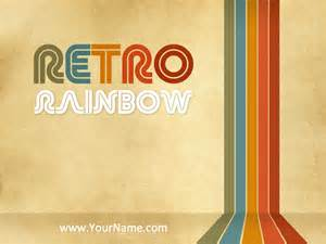 retro rainbow powerpoint template by perspectivaes