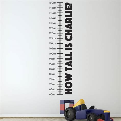height wall sticker personalised childrens height chart height chart wall