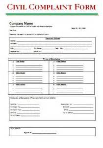 grievance complaint form free word s templates