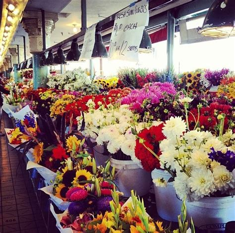 seattle flower stand at pike place market travel pinterest flower stands pike place