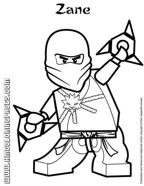 Zane Ninjago Coloring Pages lego ninjago zane colouring page h m coloring pages