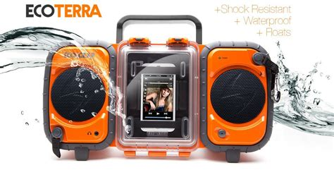 ecoxgear rugged and waterproof stereo boombox grace digital ecoxgear rugged and waterproof boombox all istuff