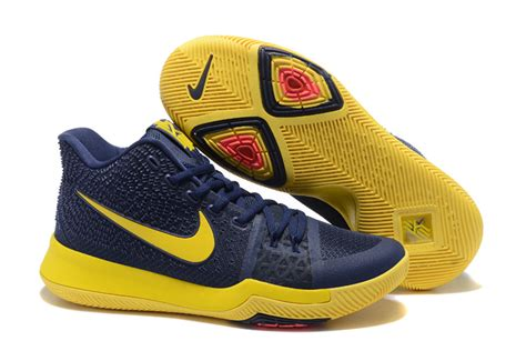 blue and yellow sneakers 2017 cheap nike kyrie 3 cavs blue and yellow sneakers