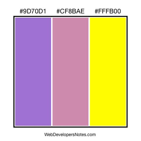 colors for web page layout