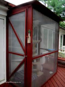 How To Build A Patio Room by Build A Catio A Tiny Screen House For Kitty Cats Our