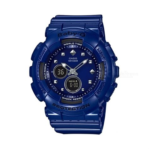 casio baby g ba 125 2adr digital blue free shipping dealextreme