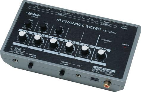 Mixer Edirol roland ree m 10mx 10 channel battery powered mixer