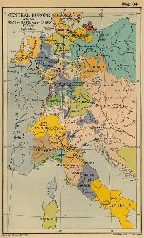 central europe map cambridge modern history atlas 1912 perry casta 241 eda map