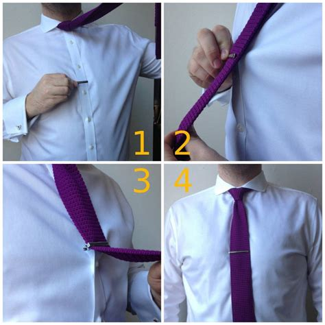 how to wear a tie clip learn the correct width placement